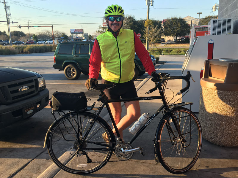 Hugh cycling St. Augustine and rediscovering a tiny adventure
