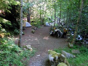 campground along the John Wayne Trail
