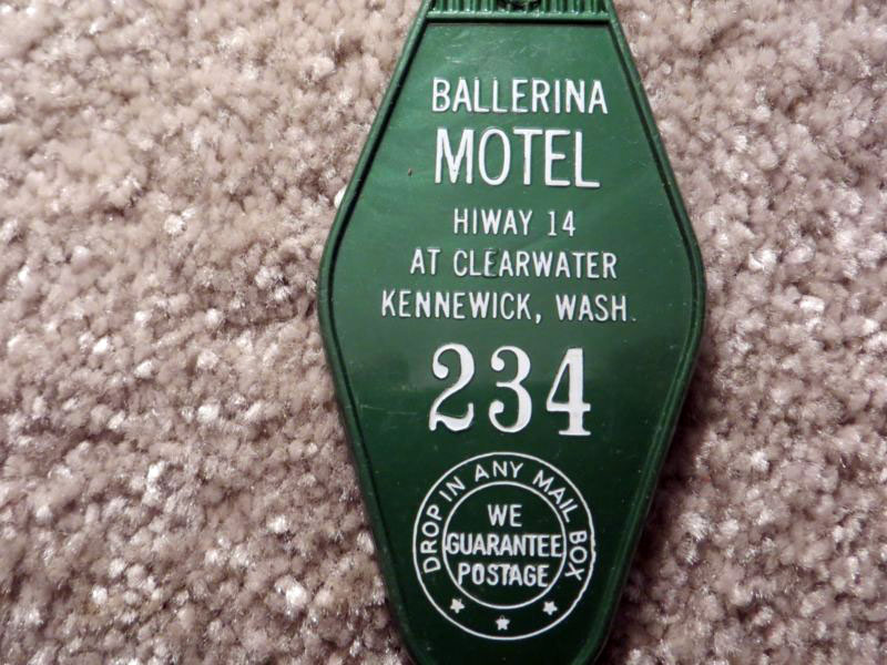 A hotel key from the Ballerina Motel